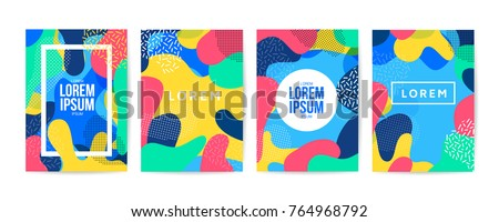 memphis style background with colorful shapes Stock photo © SArts