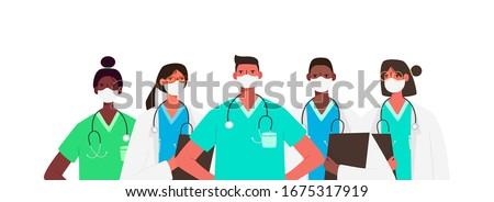 Medic jeunes posant isolé blanche femme Photo stock © hsfelix