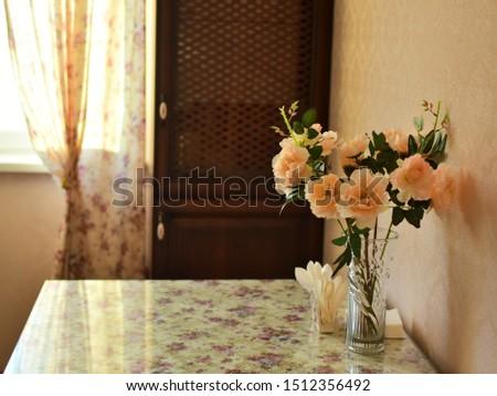 Güzel buket güller beyaz tablo Stok fotoğraf © Yatsenko