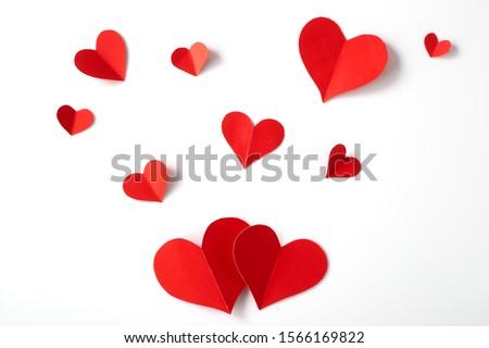 Kalp şekli kâğıt doku valentine gün düğün Stok fotoğraf © auimeesri