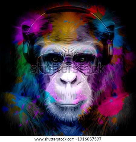 kézzel · rajzolt · hippi · szín · rajz · koponya · arc - stock fotó © netkov1