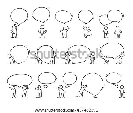 Stock fotó: Szett · emberek · szöveglufi · illusztráció · boldog · terv
