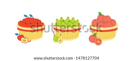 A basket of pear Stock photo © colematt