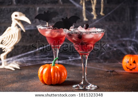 Halloweens spooky drink with blackberry Stock photo © furmanphoto