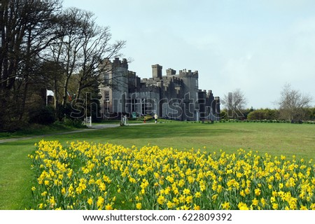 Stock fotó: Kastély · Írország · vidék · ház · Dublin · fű