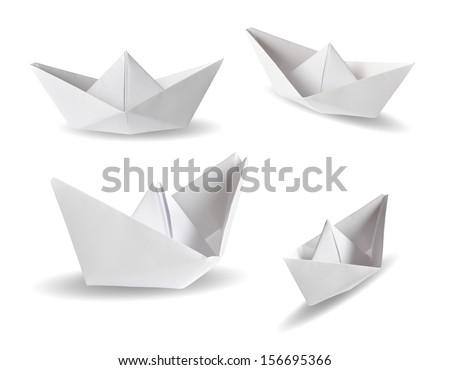 Sailor on a paper boat. Stock photo © MyosotisRock