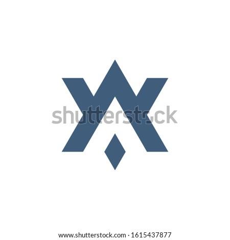 AV VA A V initial based letter icon geometric logo. Technology business identity concept. Creative c Stock photo © kyryloff