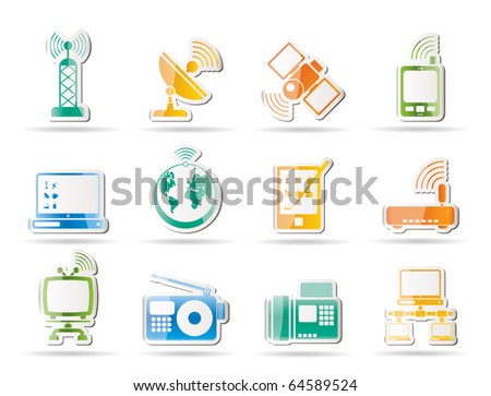 Cellular Communication and Cable Tv Television Stock photo © robuart