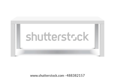 Office table isolated on the white background Stock photo © ozaiachin
