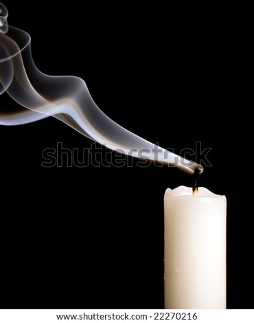 extinguished candle with smoke, isolated over black Stock photo © ozaiachin