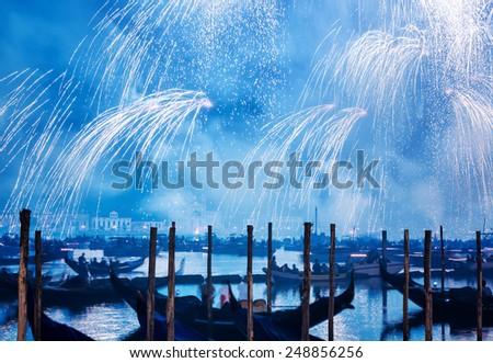 Kutlama Venedik İtalya ay arka plan Stok fotoğraf © cheyennezj