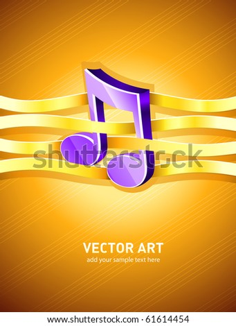 note musical symbol interlaced by gold ribbon Stock photo © LoopAll