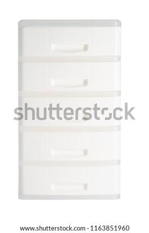 Plastik çekmeceler iki küçük depolama Stok fotoğraf © trgowanlock