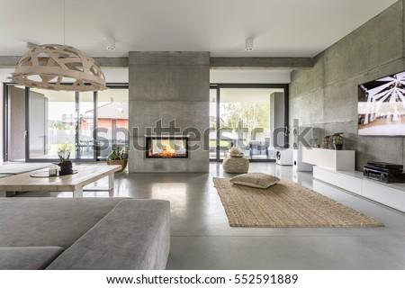 Interior moderno casa casa janela cozinha Foto stock © alexandre_zveiger