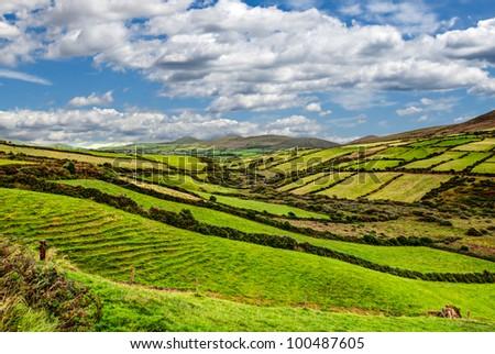 montanhas · norte · Irlanda · verde · viajar · animal - foto stock © mady70