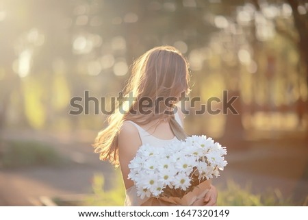 Waiting pretty  girl with bouquet Stock photo © Aikon