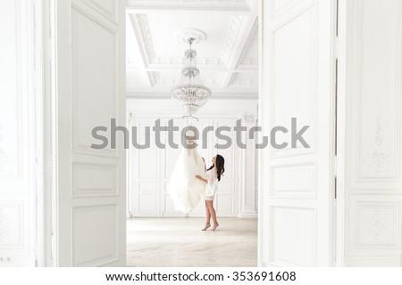 Dość pani świetle sukienka odizolowany Zdjęcia stock © Elnur