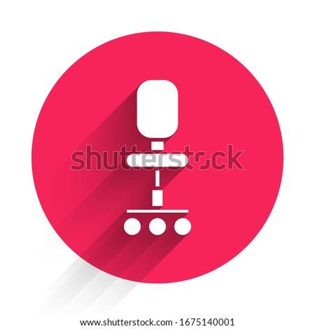 Wheel Chair Red Vector Icon Design Stock photo © rizwanali3d