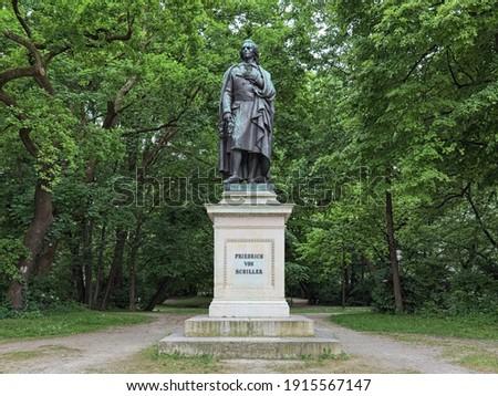 statue of Friedrich von SChiller at the Maximiliansplatz in Muni Stock photo © meinzahn