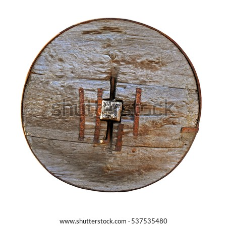 Antika ahşap tekerlekler gibi tırabzan ahşap Stok fotoğraf © carenas1