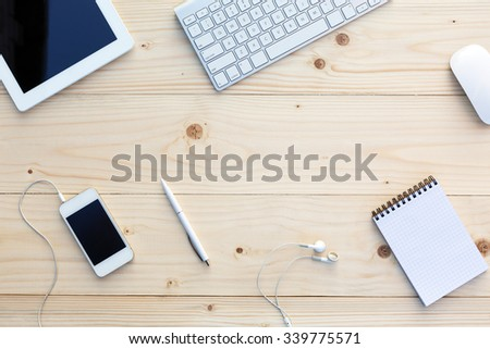 Businesscard template with business items Stock photo © bluering