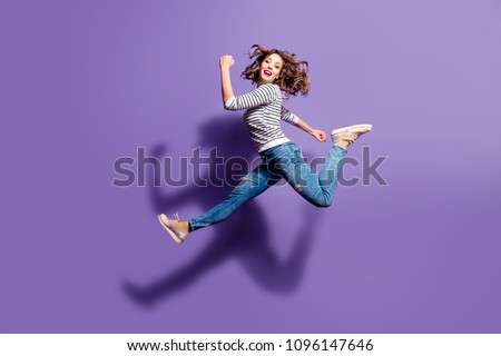 Stock photo: young woman jumping