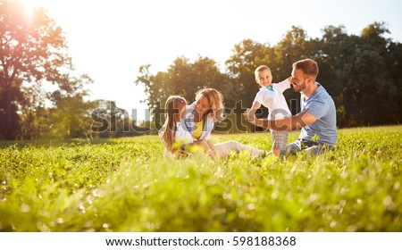Family in the park Stock photo © IS2