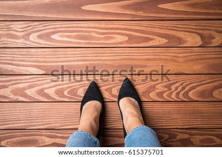 Overhead view of feet Stock photo © IS2