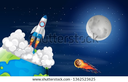 Roacket launch from earth Stock photo © bluering