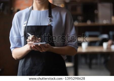 Portre garson yazı sipariş notepad restoran Stok fotoğraf © wavebreak_media