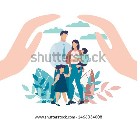 parents and son in the park family protection Stock photo © yupiramos