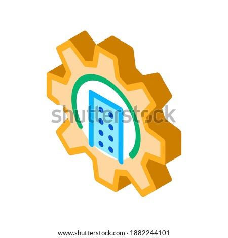 Skyscraper Gear isometric icon vector illustration Stock photo © pikepicture