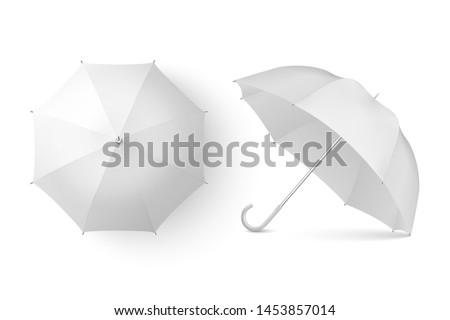 şemsiye yalıtılmış beyaz spor yağmur mavi Stok fotoğraf © kitch