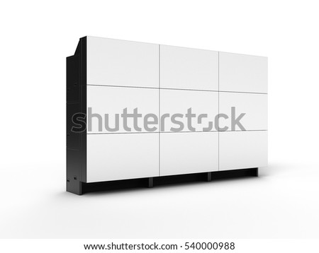 3D · LCD · fal · tv · zöld · technológia - stock fotó © nasirkhan