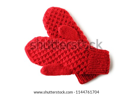 Red mittens Stock photo © fotogal