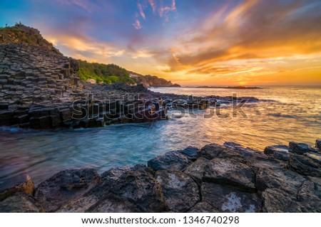 Ganh Da Dia, Viet Nam, rock, sea, travel, vietnam Stock photo © xuanhuongho