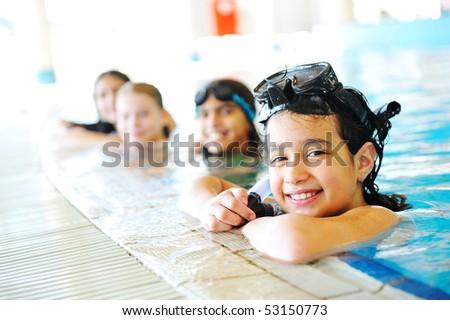 Hermosa piscina verano tiempo mujer Foto stock © zurijeta