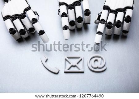 ロボット · アイコン · ベクトル · 画像 · 黒 · レトロな - ストックフォト © andreypopov
