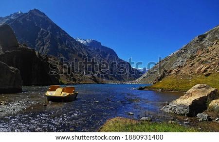 Tó Himalája útvonal LA passz völgy Stock fotó © dmitry_rukhlenko