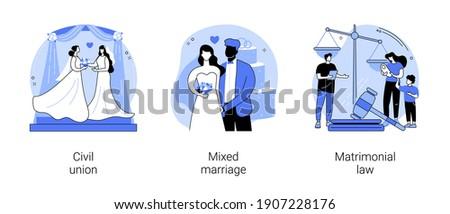 Matrimonial law abstract concept vector illustration. Stock photo © RAStudio