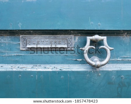 oude · groene · mailbox · mail · roest · gat - stockfoto © smuki