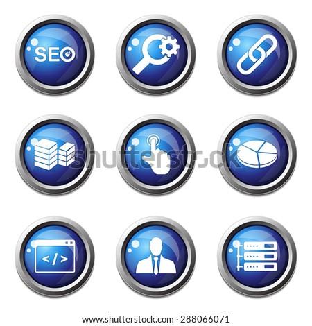 Seo Internet signo azul vector botón Foto stock © rizwanali3d