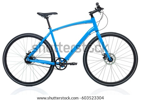 New blue bicycle isolated on a white Stock photo © vlad_star