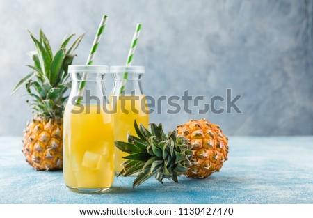 Ananas sap glas rijstveld Vietnam zomer Stockfoto © bloodua