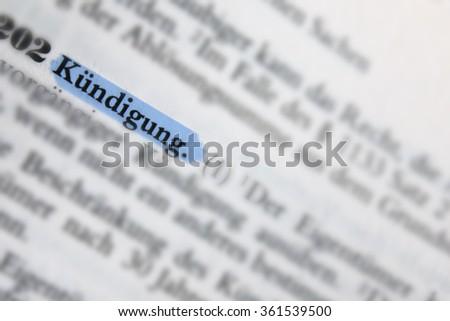 Kuendigungsschutz Stock photo © Mazirama