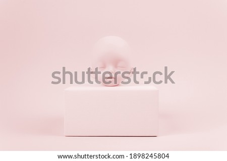 cute little baby monochrome collage Stock photo © juniart
