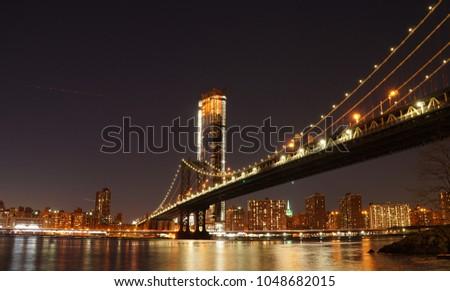 Em torno de ponte Nova Iorque nublado cenário EUA Foto stock © prill