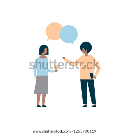 cartoon · paar · bubble · dialoog · man · vrouw - stockfoto © cienpies