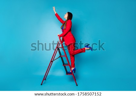 Model on Step-ladder Stock photo © vanessavr
