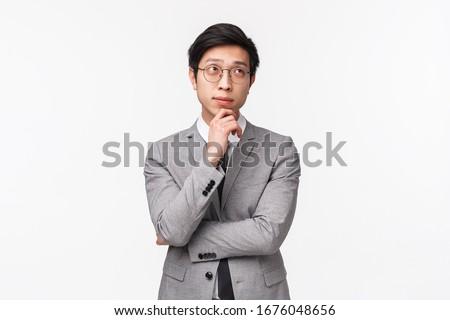koncentrált · lezser · üzletember · gondolkodik · iroda · portré - stock fotó © alexandrenunes